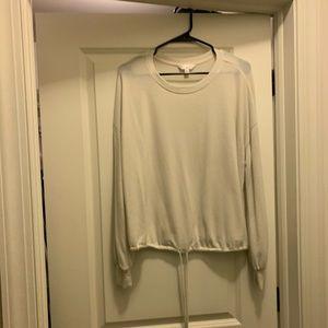 Lauren Conrad Soft Sweater with Drawstring Hem